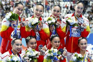 世锦赛花游集体自由自选中国再添银俄夺冠日本季军