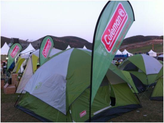 coleman帐篷外观典雅大方。
