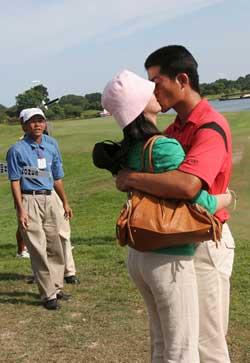 高尔夫球手顾家好男人梁文冲:妻子的话永远都对