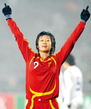 中国女足3:2险胜韩国