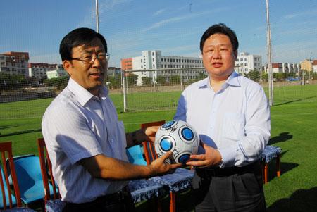 李万才市长视察大连实德足球俱乐部时的讲话_