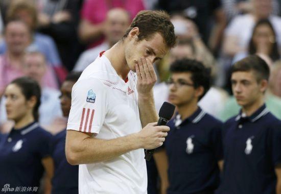 穆雷在颁奖仪式上哽咽落泪