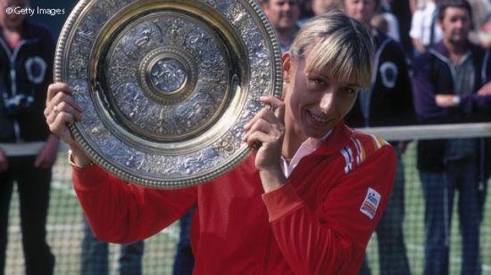 纳芙拉蒂洛娃曾创纪录9次夺得温网玫瑰露水盘(图片来源:WTA中文官网)