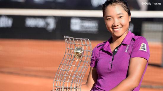 奈良久留美夺生涯首冠(图片来自WTA官网)