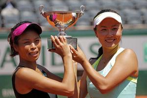 彭帅谢淑薇横扫世界第二生涯首夺法网女双冠军