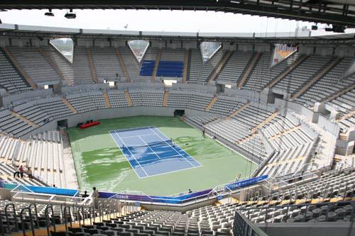图文-奥运网球中心竣工交付使用 内场鸟瞰别样赛场