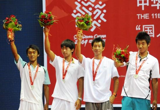 图文-江苏队夺得全运网球男团金牌湖北队虽败犹荣