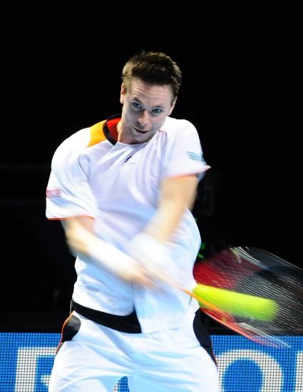 图文-[ATP总决赛]两将携手晋级索德林反手回球