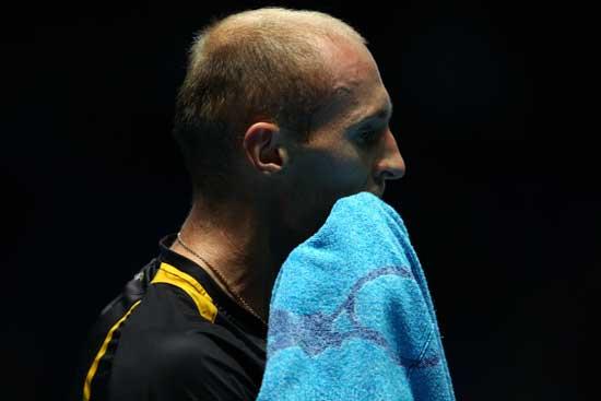 图文-[ATP总决赛]达维登科胜索德林比赛一度很艰苦