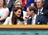 威廉王子与王妃观战
