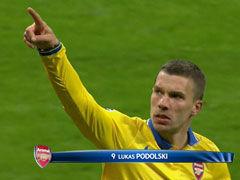 进球视频-波多尔斯基推倒拉姆 小角度爆射破拜仁