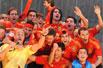 西班牙捧杯回国万人庆典