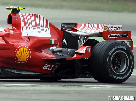 法拉利车队测试F2009过渡车型――F2008K(多图)