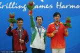前三名棋手手握奖牌