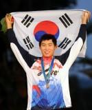 韩国球手领奖