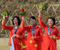 中国包揽飞碟女子双多项两金92奥运冠军张山第四