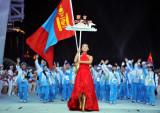 蒙古代表团入场