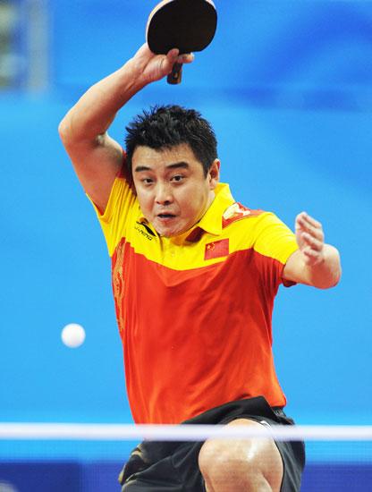 图文-乒乓球男团中国3-0日本王皓盯紧回球项目奥运会落点击剑v图文图片
