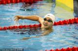 中国选手高畅微笑