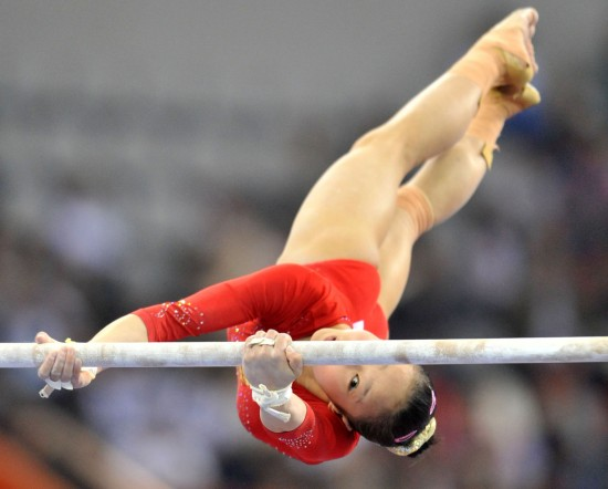 亚运体操女子高低杠