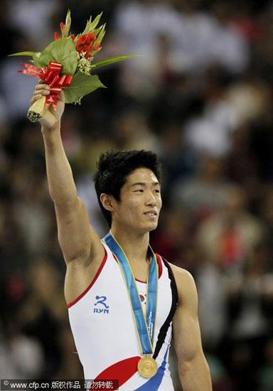 韩国选手夺得跳马金牌