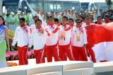 印尼男队领奖