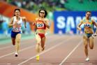 图文-亚运会女子100米赛况 陶宇佳戴墨镜很酷