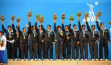 印度女队登台领奖