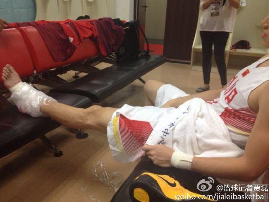 刘晓宇受伤