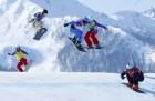 单板女子追逐赛捷克选手夺金 雪坡上的风景