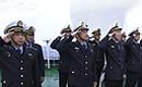 海监编队距钓13海里举行海上升旗仪式
